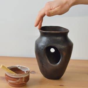 Grotte enfumée 01 doigt - Margaux Ceramics
