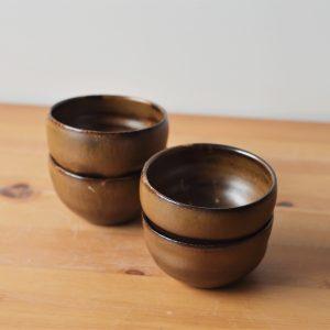Petite Bolée dorée Compagnon en céramique