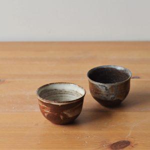 Tasse 2 Gong fu cha - cirrus - cendres - Margaux Ceramics