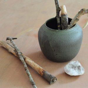 Vase vert mat 03 - Margaux Ceramics -